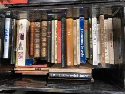 [Arts]. LOT de deux caisses de documentations et de livres reliés et brochés [Arts]....