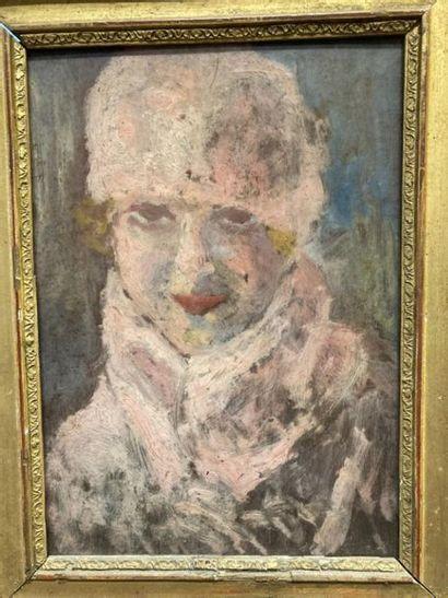 Ecole FRANCAISE, vers 1930. Portrait d'une...