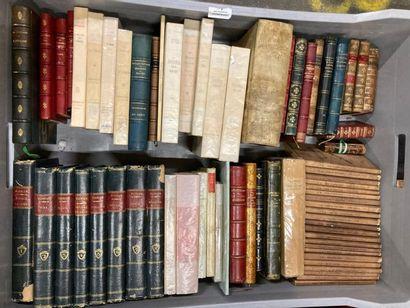 Littérature. MANNETTE de livres brochés et...