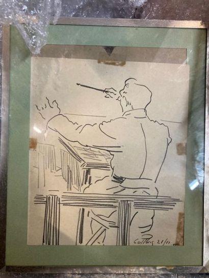 Ecole MODERNE Chefs d'orchestres. Deux dessins...