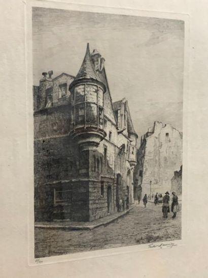 PARIS ET MONTMARTRE. Ensemble de 6 gravures...