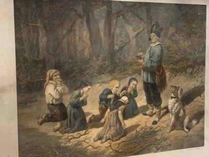Ensemble de 7 estampes en l'état, du XIXème...