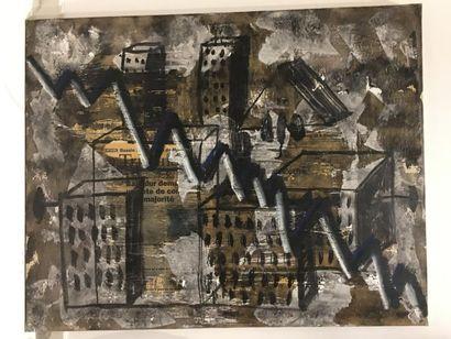 Dominique OBADIA. Paysage urbain, [19]94....