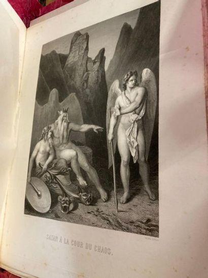 2 CARTONS à DESSIN comprenant : - MILTON. Le Paradis Perdu. Traduction de Chateaubriand...