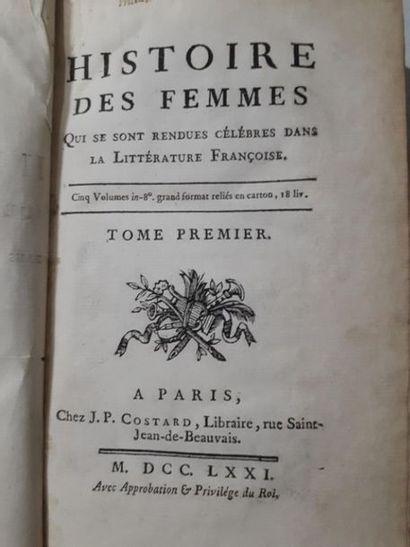 Lot de volumes reliés dont : Histoire de France par M.Garnier, les Femmes célèbres...