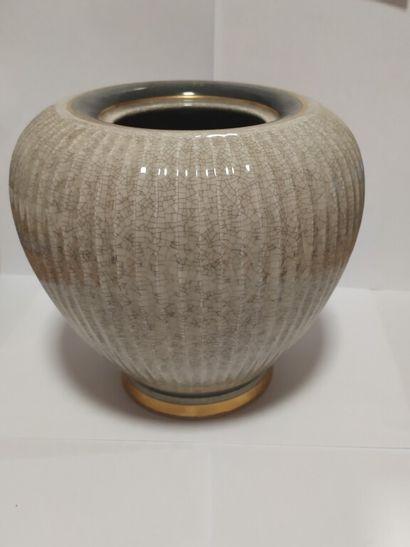 ROYAL COPENHAGEN DENMARK  Vase côtelé en...
