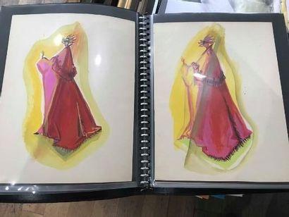 Petit portefolio comprenant des dessins,...