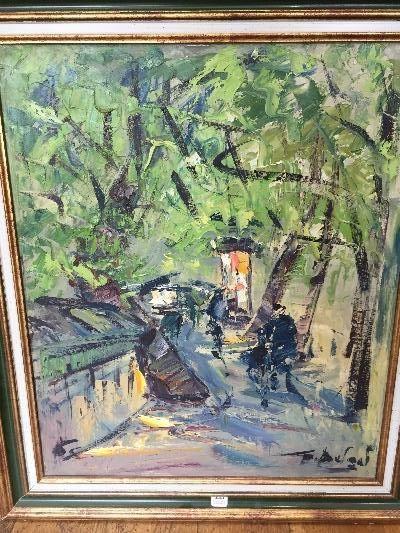 Georges BERGER (1908-1976)  Les bouquinistes...