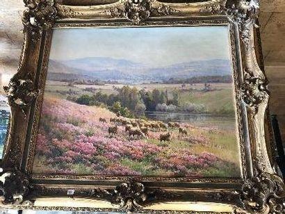 Edouard PAIL (1851-1916)  Troupeau de moutons...