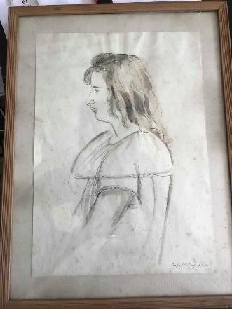 Léopold LEVY  Portrait en buste de profil...