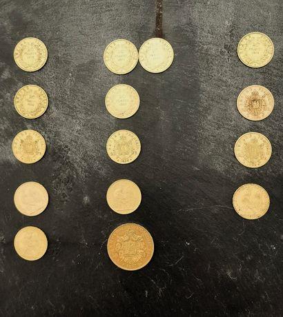 Ensemble de pièces de 20 FF ET UNE DE 50...