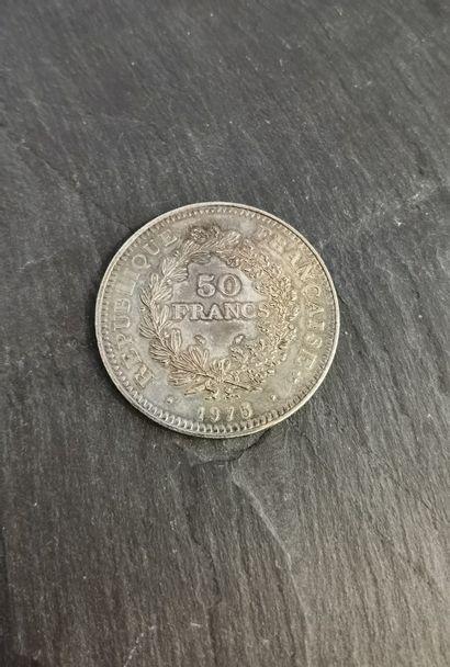 Pièce de 5FF en argent, 1975.  Poids : 29,9...