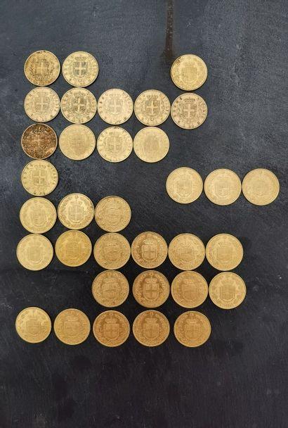 34 x 20 lire or 900 mm, Savoie.  - 1 x 1841...