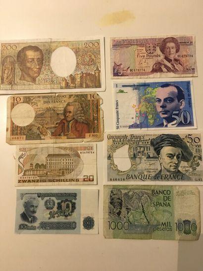 LOT de BILLETS en francs français. : 50 -...