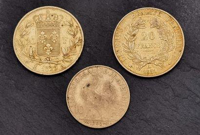Ensemble de pièces en or 900 mm comprenant...