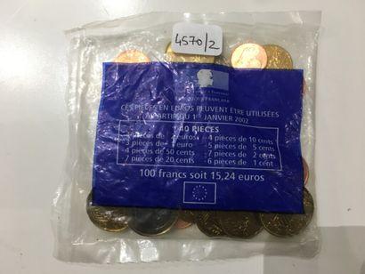 SAC de PIECES en EUROS : 100 francs soit...