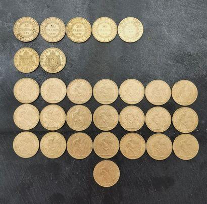 29 x 20 francs or 900 mm :  - 1 x 1852 A...