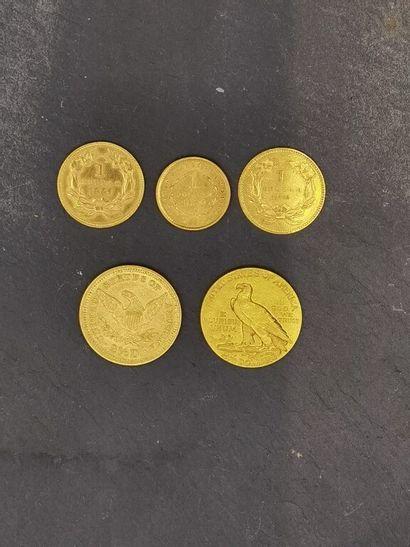 [Frais jud. 14,28% TTC] LOT de pièces d'or...