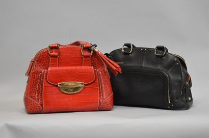 Ensemble de deux sacs à main LANCEL :    LANCEL...