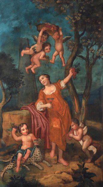 École FRANÇAISE du XVIIIe siècle.  L'Hiver,...
