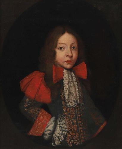 École FRANÇAISE vers 1690.  Portrait d'un...