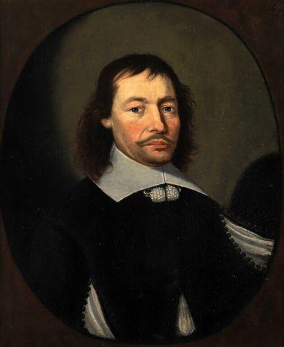 MONGINOT (? 1654).  Portrait d'homme dans...