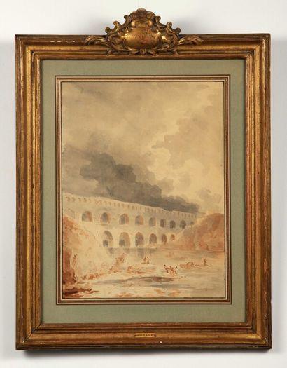 École d'Hubert ROBERT (Paris 1733 1808)....