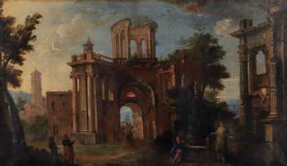École ROMAINE vers 1680.  Le Christ et la...