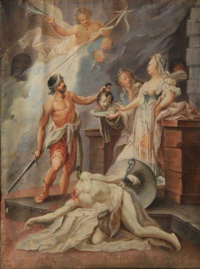 École du NORD vers 1700.  Salomé recevant...