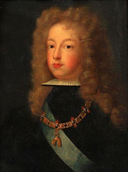 École FRANÇAISE vers 1700.  Portrait de Philippe...