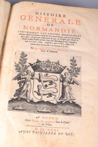* [NORMANDIE] MOULIN (Gabriel du) Histoire...