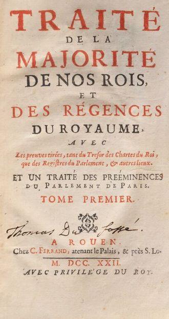 * ANONYME [Du PUY] Traité de la majorité...