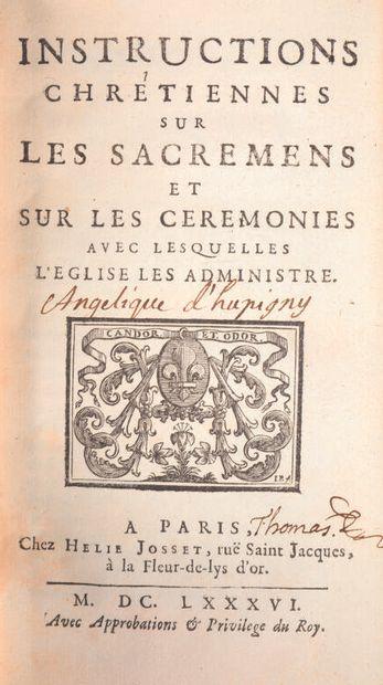 *Bibliothèque janséniste THOMAS DU FOSSÉ...