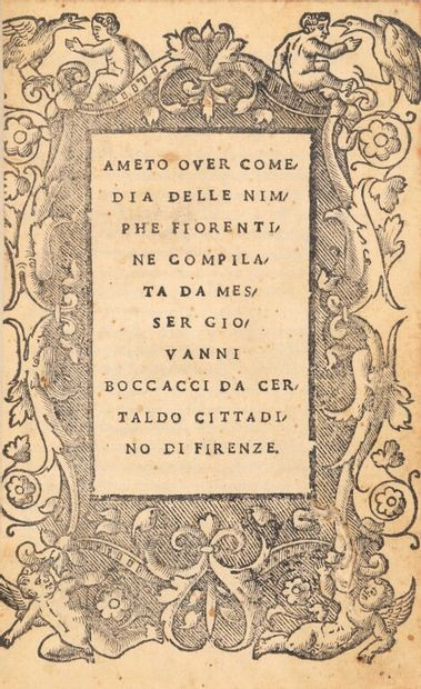 [Livre du XVIe siècle]. BOCCACE. Ameto over...