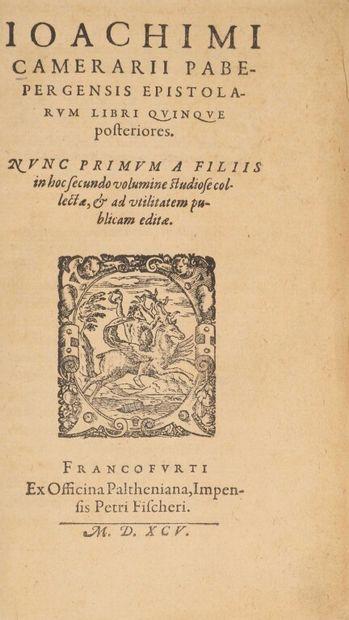 [Livre du XVIe siècle]. CAMERARIUS (Joachim)....