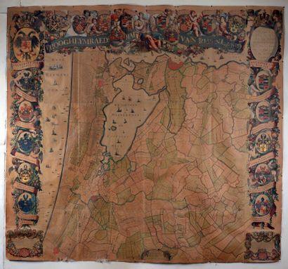[Carte géographique]. [Rijnland]. 'T Hoogheymraedschap...