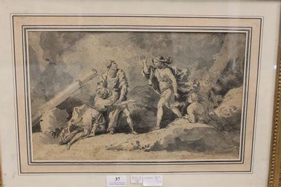 Ecole FRANCAISE du XVIIIe siècle.  Scène...