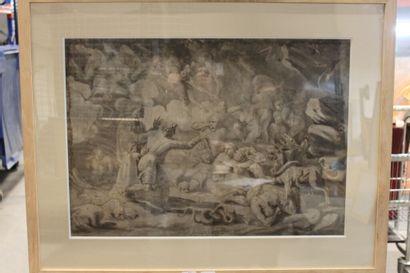 Ecole ITALIENNE du XVIIe siècle.  Dante conduit...