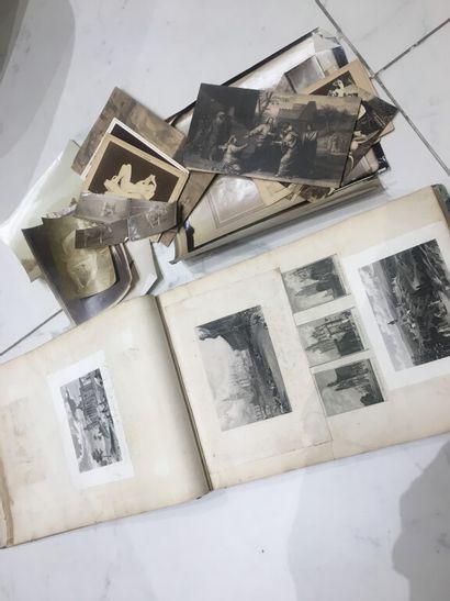 Album photographies diverses telles que navires,...