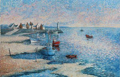 Jean Lambert D'HOMDT  Vieux port en Bretagne....