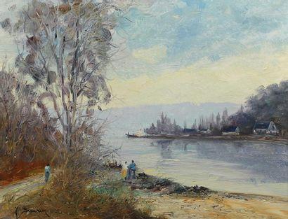 Jean SIEURIN (né en 1931).  Passage d'eau-Yvette...