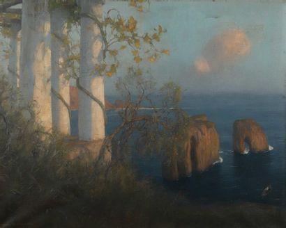 Maurice REALIER-DUMAS (1860-1928).  Jardin...