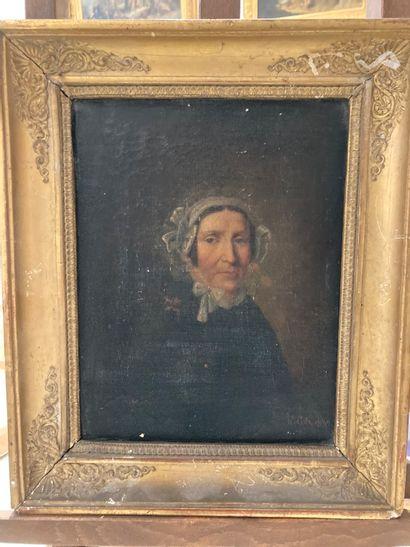 Hippolyte COTE (1816-1874)  Portrait en buste...