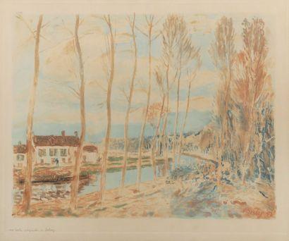 D'après Alfred SISLEY (1839-1899).