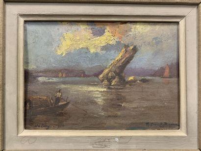 Robert DUMONT DUPARC (1866-1930)  La baie...
