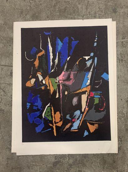 André LANSKOY (1902-1976)  Composition abstraite...