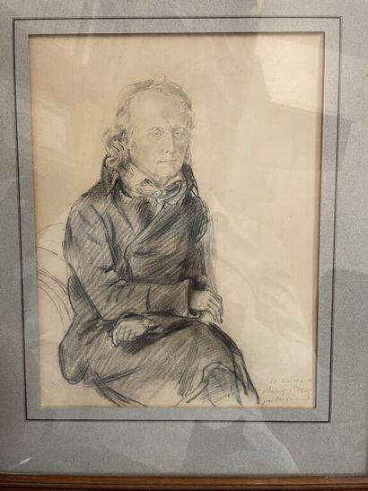 Ecole FRANCAISE du XIXe siècle.  Portrait...