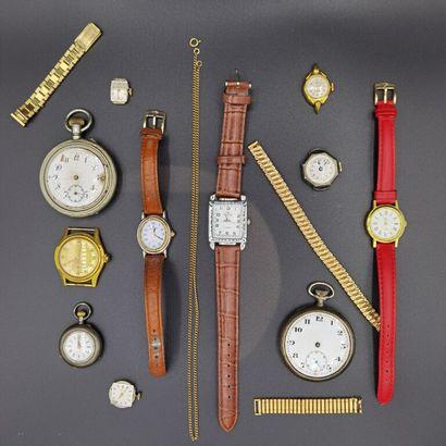 LOT de montres de Gousset, poche, poignet....