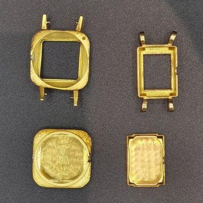 Souvenirs de montres en or 18K (750 millièmes)....