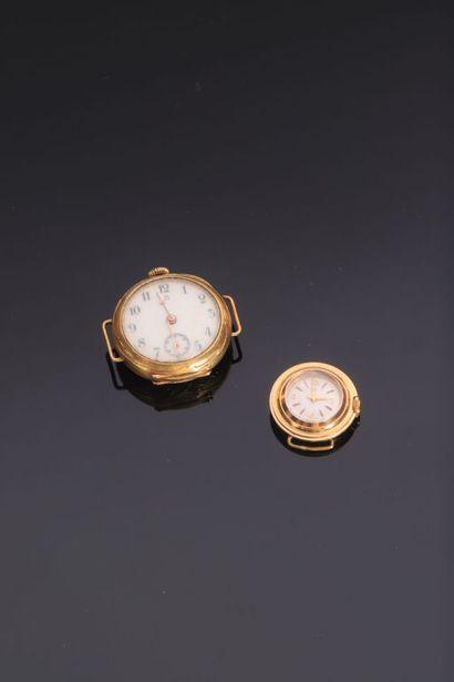 LOT de deux montres en or jaune 18K (750...